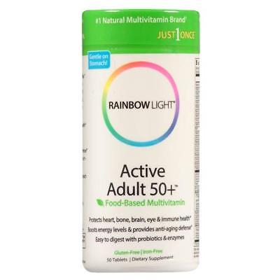 Rainbow Light Active Adult 50+ Multivitamin, Tablets, 50 ea