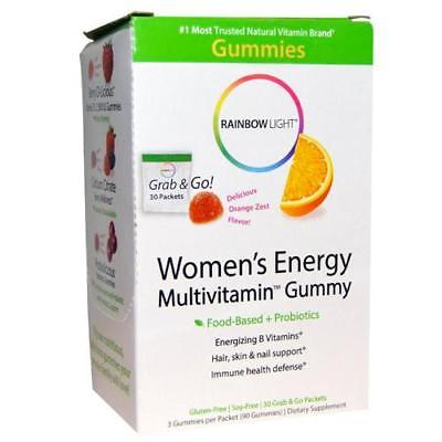 Rainbow Light Women's Energy Multivitamin Gummy, Orange, Packets, 30 ea