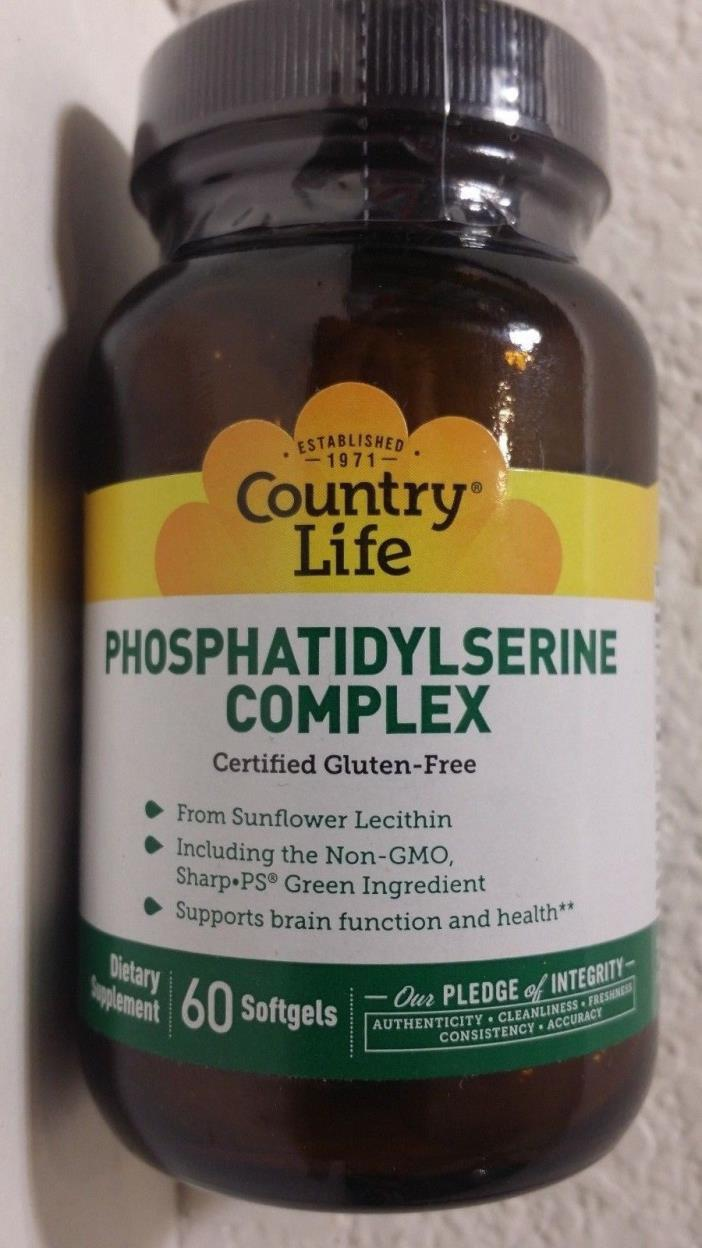 Country Life Phosphatidylserine Complex 60 softgels FREE shipping
