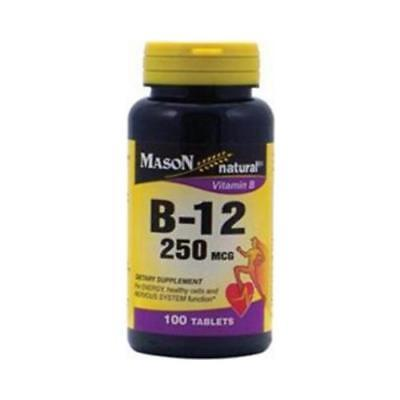 Mason Natural Vitamin B-12, 250 mcg, Tablets, 100 ea