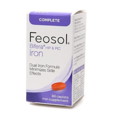 Feosol Bifera HIP & PIC Iron, Complete, Capsules, 30 ea