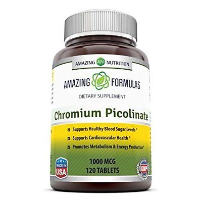 Amazing Nutrition Chromium Picolinate Supplement – Supports Healthy Weight Manag