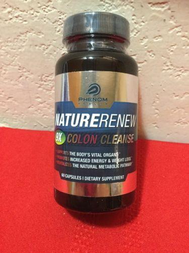 Nature Renew Colon Cleanse Detoxification Supplement - 60 High Potency Capsules