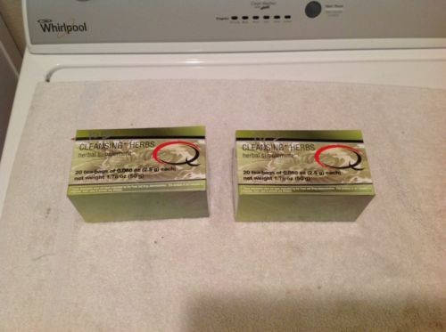 Quick Weight Loss, Q Tea, Cleansing Herbs, Lot If 2 (20 Packs) (40 Total), Seale