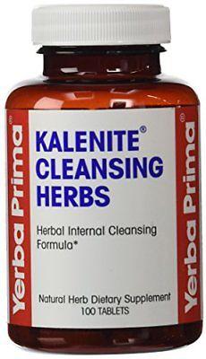Yerba Prima Kalenite&65533; Cleansing Herbs, 100 Tablets