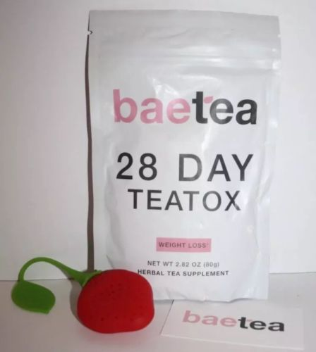 New BAETEA 28 Day Detox Teatox Loose Tea + Infuser Expires 5/18 Weight Loss Tea