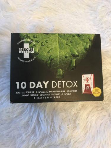 Rescue Detox 10 Day Permanent Cleanse Body Flush + 8 ice caps