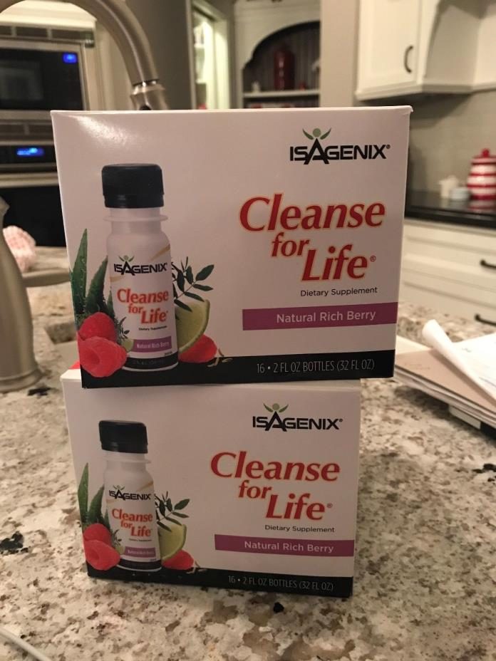ISAGENIX Cleanse for Life - 31/2oz. bottles - Natural Rich Berry