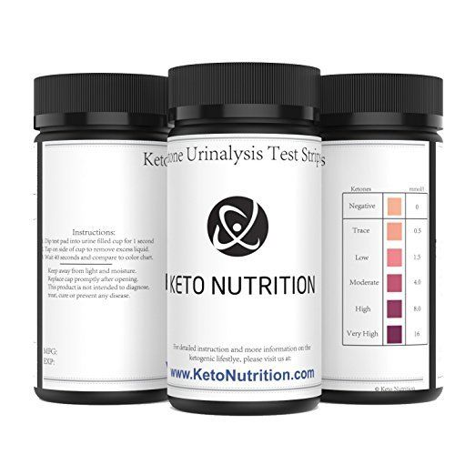 Keto Nutrition Ketogenic Test Ketone Strips 100 Professional Grade Urinalysis