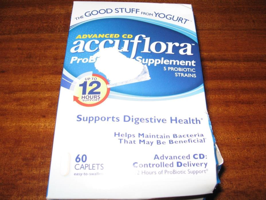 Accuflora Advanced CD Probiotic Supplement caplets, 60 Count Caplets w FREE SHIP
