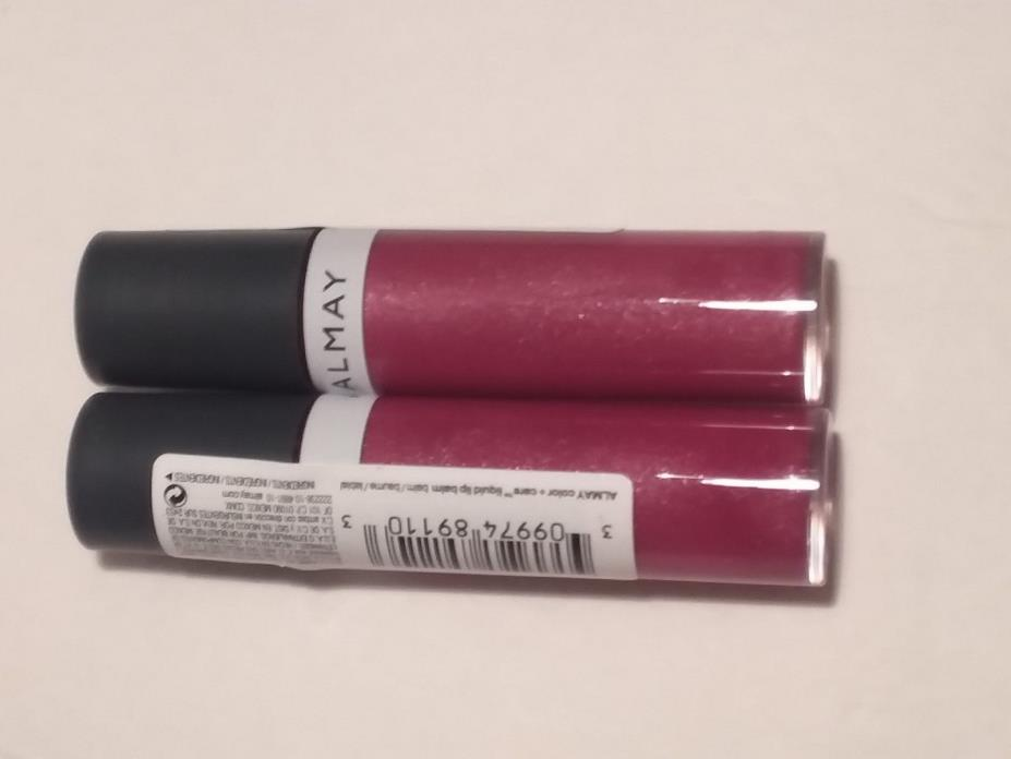 Lot of 2 Almay Color + Care liquid lip balm in #950 Truffle Kiss *Brand New*