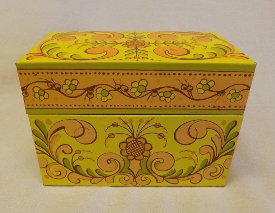 Vintage Avon Tin Metal Recipe Box