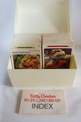 Vintage Betty Crocker Recipe Cooking Card Library Color Photo Collection w Box