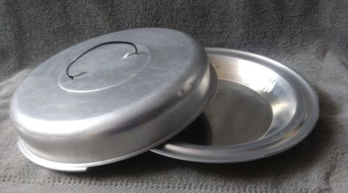 Vintage Aluminum Locking Pie Cake Pan Plate Holder Carrier Cover Lid Top Handle