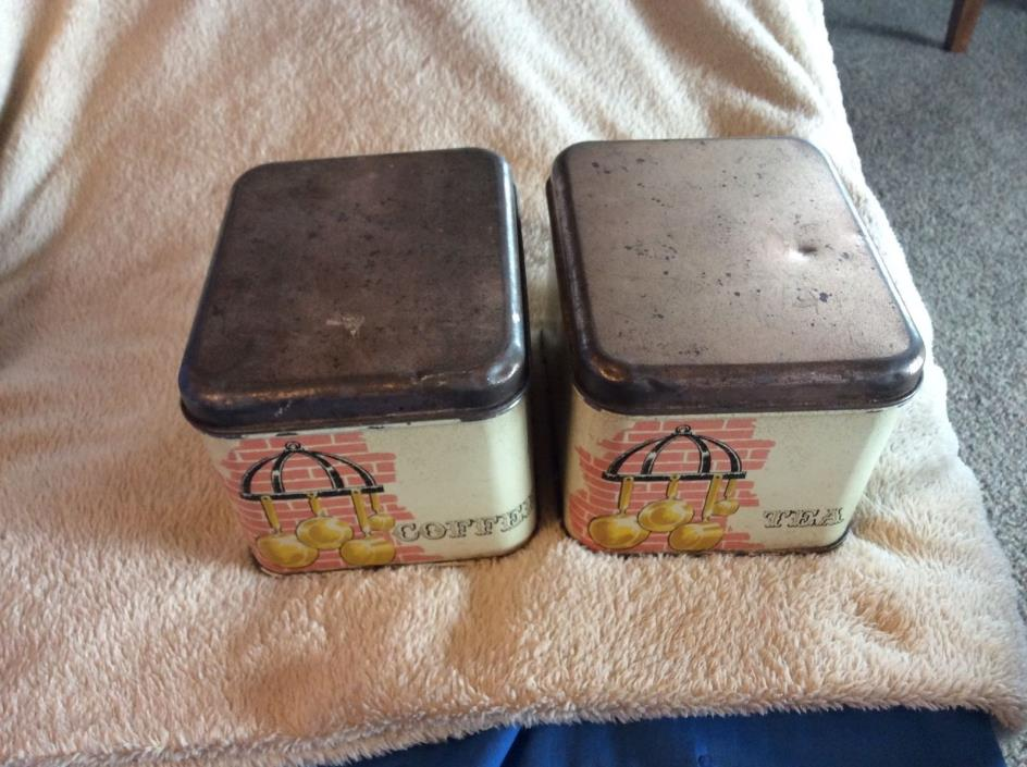 Vintage Coffee Tea Metal Canister Set Cheinco Burlington NJ kitchen