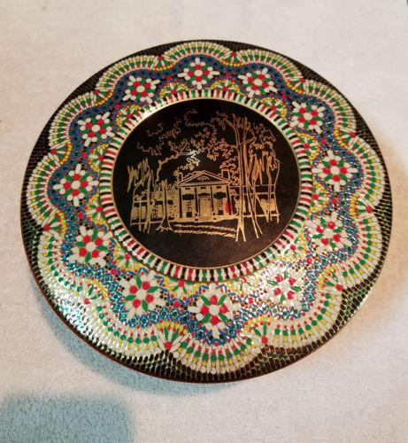 Vintage Dahr Cookie/Biscuit Tin Beaded Relief-England