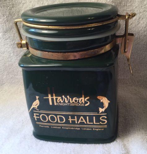 HARRODS KNIGHTSBRIDGE FOOD HALLS GREEN CANISTER
