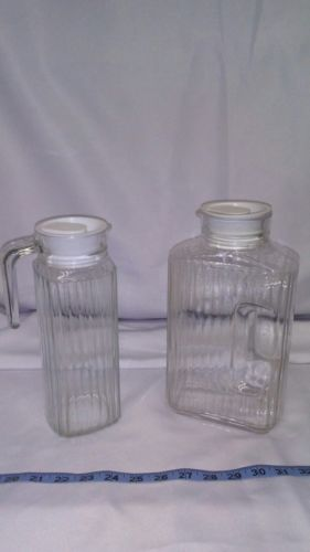 vintage ARC juice glass pitchers-France