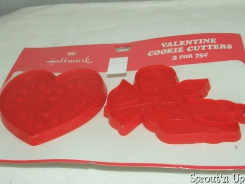 HALLMARK vtg cookie cutters Valentine's Day cupid heart NEW NIP
