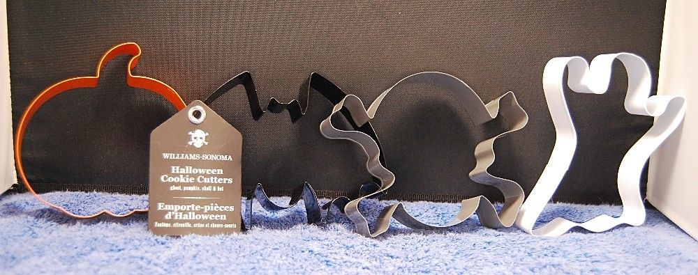 Williams-Sonoma Halloween Metal 2016 Cookie Cutter Set of 4 Cutters - Brand New