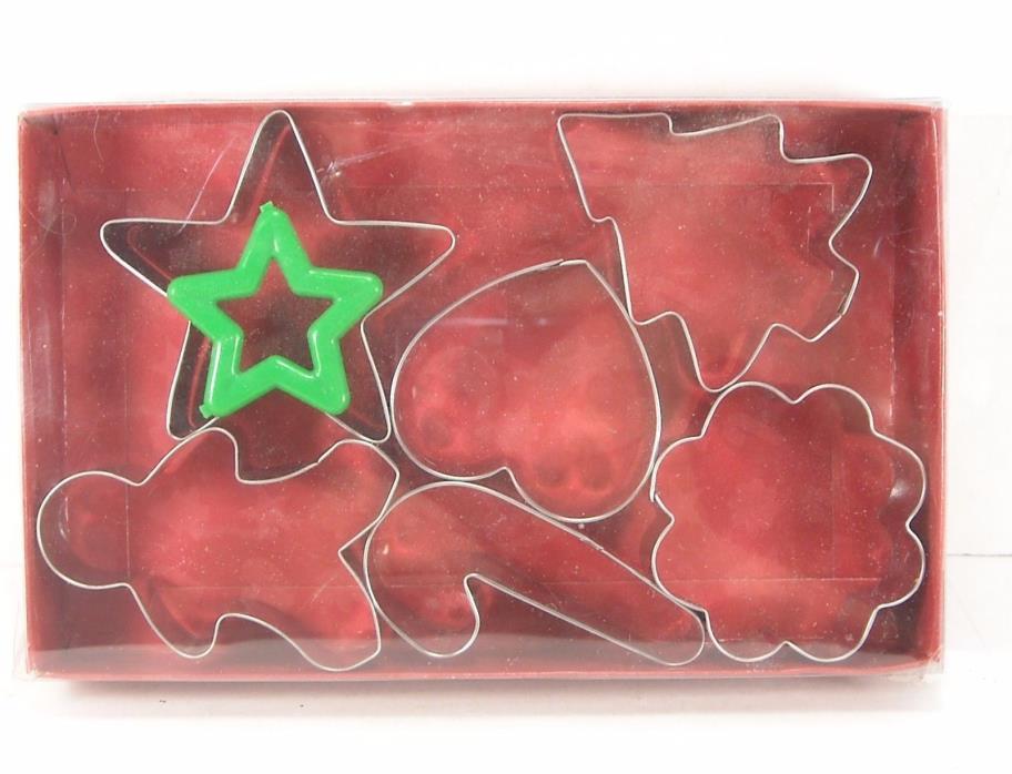 Metal Christmas Cookie Cutters NIB