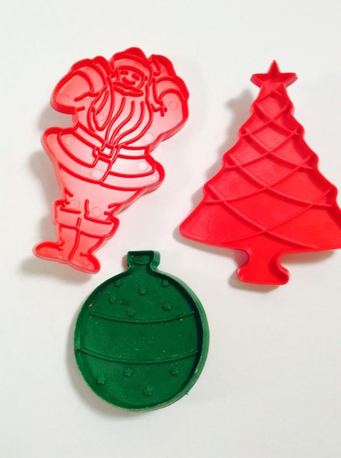Vintage Cookie Cutters,Christmas Cookie Cutters,Santa,Ornament,Christmas Tree