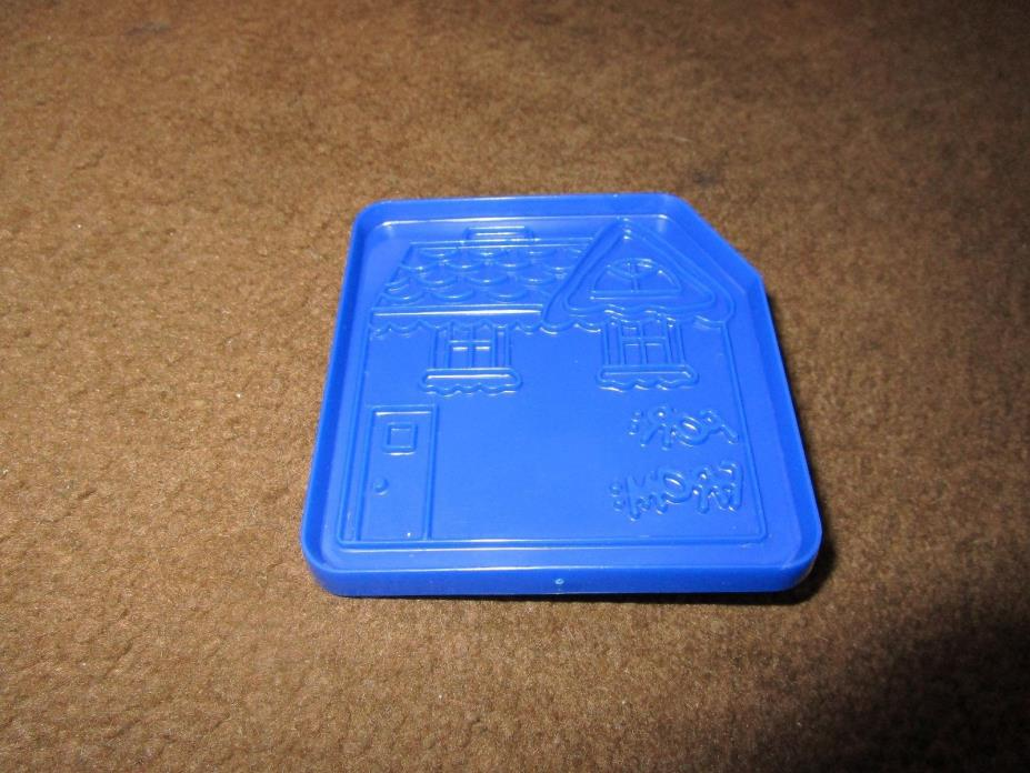 RARE Domino Sugar Plastic HOUSE Cookie Cutter with FOR: and  FROM:
