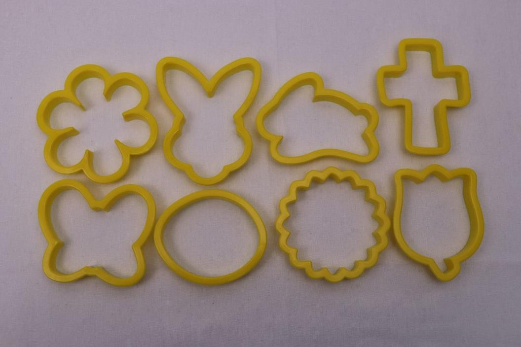Wilton Plastic Cookie Cutters Easter Rabbit Egg Cross