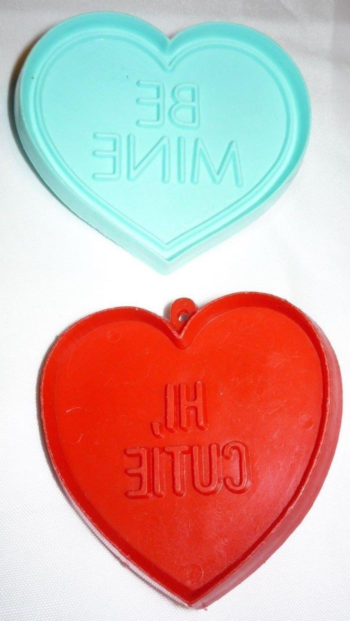 2 Hallmark Valentine's Conversation Heart BE MINE & HI CUTIE Cookie Cutters