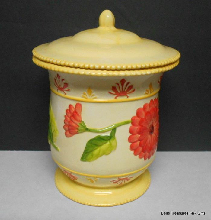 Nonni's Biscotti Bisquit Cookie Jar Kitchen Storage Cannister Sunflower Theme