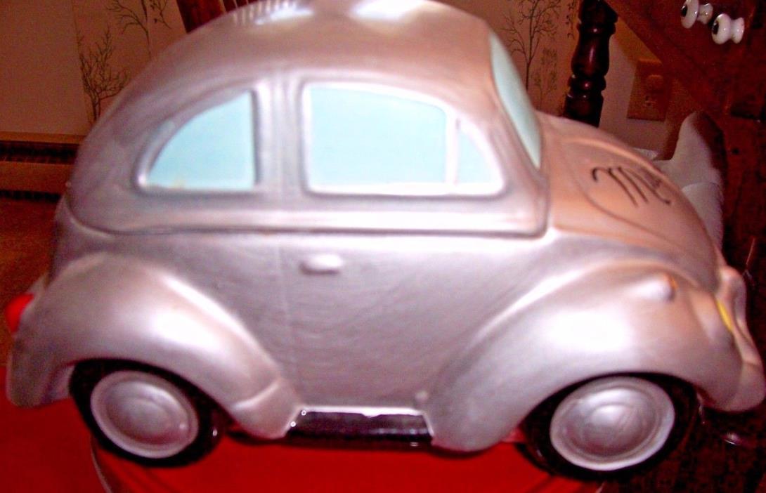 VW CAR  COOKIE JAR~SILVER~MILLENNIUM~2000 TAG~EX. COND~ 10