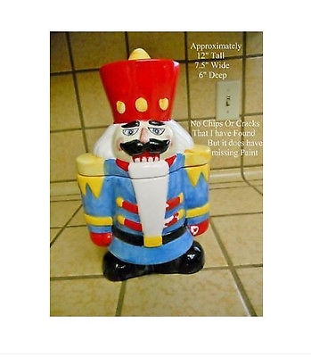 Nut Cracker Cookie Jar