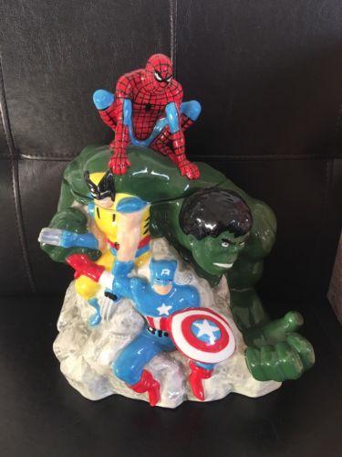 Westland Marvel Cookie Jar Captain American Spiderman Hulk Wolverine
