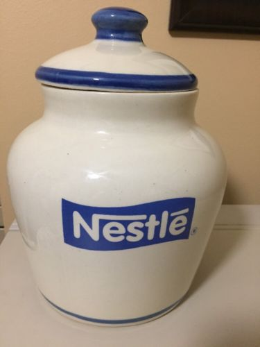 Vintage NESTLE Cookie Jar Ceramic Collectible Rare (prod. Mexico) 'La Lechera'
