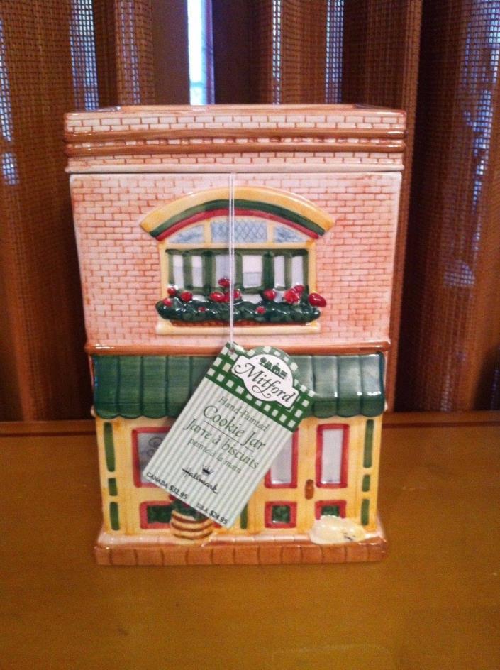 HALLMARK MITFORD - Hand Painted Bakery COOKIE JAR - Never Used