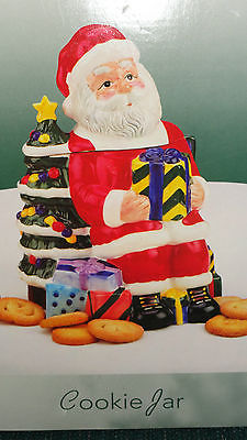 Believe in old Country Santa   decor Christmas  cookie jar  IOB