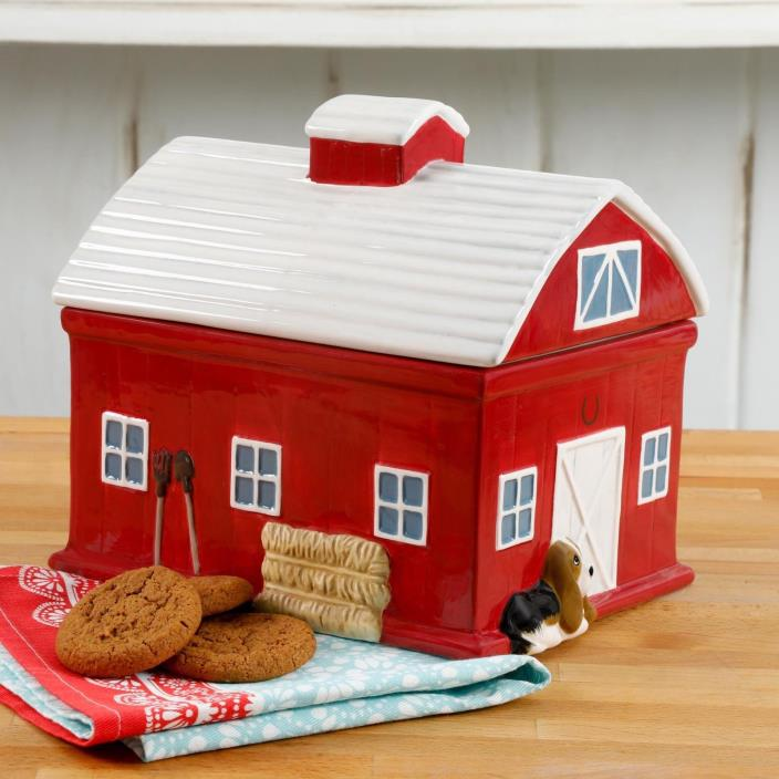 The Pioneer Woman Barn 7.9 Inch Cookie Jar