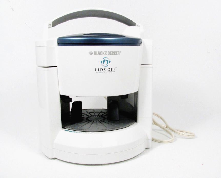 BLACK & DECKER LIDS OFF White Automatic Electric Jar Opener JW200