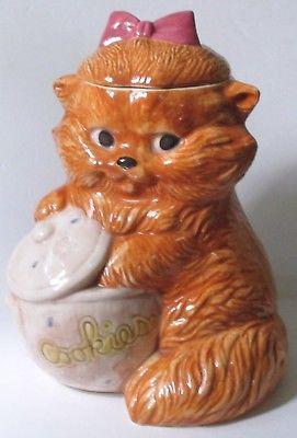Treasure Craft Feline CAT with Bow Cookie Jar