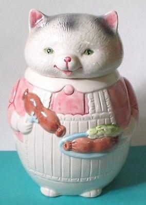 Ron Gordon Vintage KITCHEN HELPERS Large Cat Cookie Jar