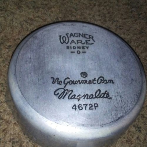 Vintage Wagner Ware Sidney -O- The Gourmet Pan Magnalite 4672P 2 Qt Sauce Pan