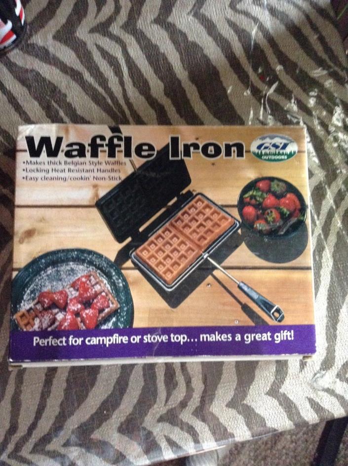 New/box Camping  Waffle Maker Pan Outdoor Indoor Stove Cooking Campfire Cookwar