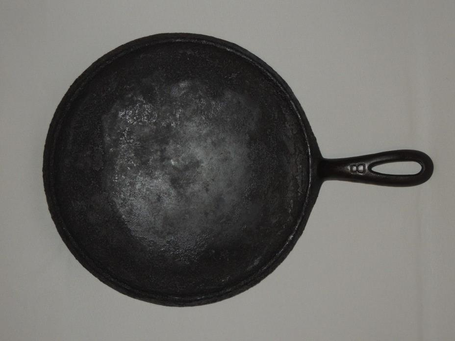 Griswold Cast Iron 738 B No. 8 Griddle Erie, Pa. Slant logo X bottom