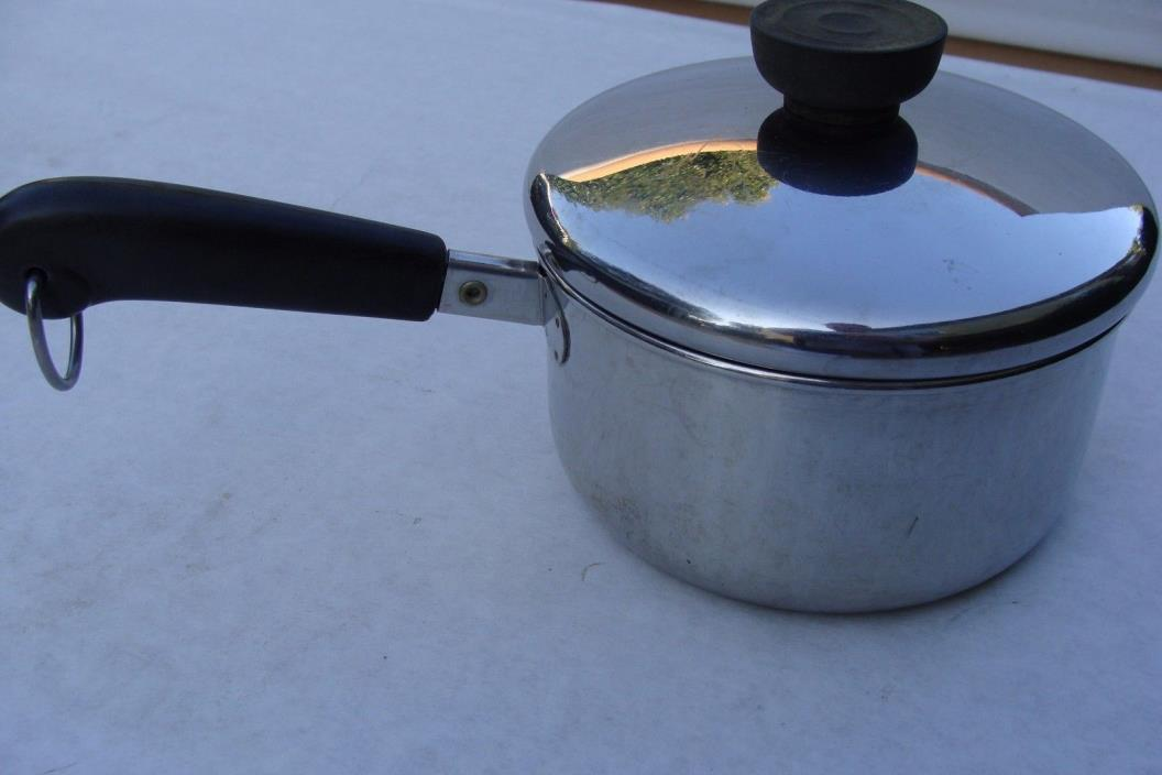 Revere Ware Stainless Steel Saucepan  Pot 1 Qt 1801 Clinton Fast Shipping w/ Lid