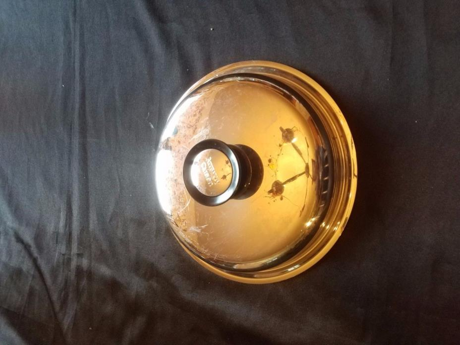 Vintage Amway Queen  Lid - Cover  Replacement 18.8  Stainless Steel  8