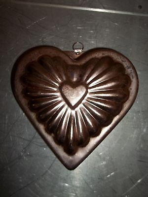 Vintage Anodized Aluminum Bunt (Bundt) Cake Pan, Bread Pan, Dessert Pan - Heart