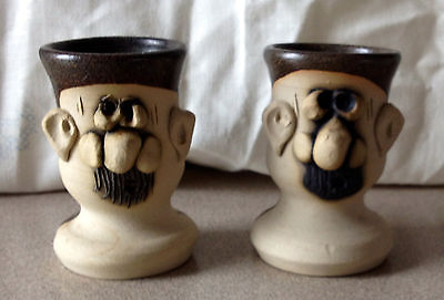 Mr. Muggs Pair of Egg Cups  Ireland Pottery