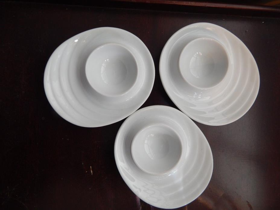 Egg Dish Cup Plate Kuchenprofi Pre Owned Set Of 3 White Dishes