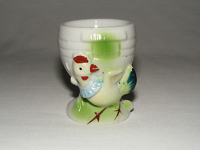 VINTAGE MADE IN JAPAN CERAMIC EGG CUP CUP LUSTER WARE MOTHER GOOSE CHICKEN