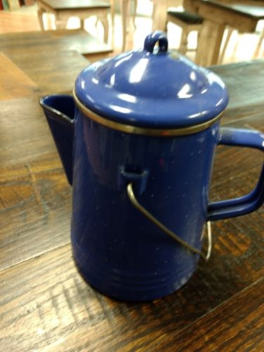 Granite Ware Vintage Blue Speckled Tea/Coffee Pot